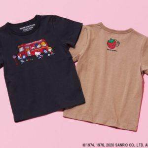 GLOBAL WORKがサンリオキャラクターのキッズTシャツを本日4月3日より発売開始