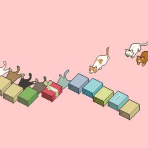 「猫ズサー」が雑貨になって登場、再生回数160万回以上の猫のピクセルアート